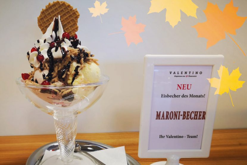 Valentino Eisbecher des Monats September Der Maronibecher