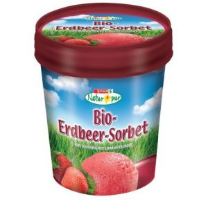 SPAR Natur Pur Bio Erdbeer Sorbet