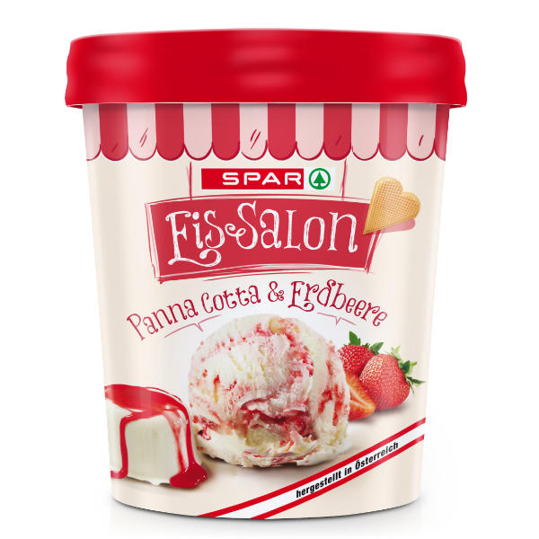 Spar Eis-Salon Panna Cotta & Erdbeere