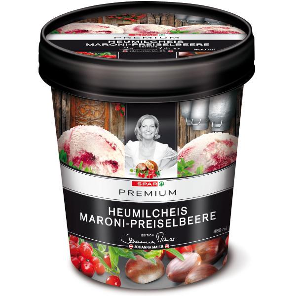 Spar Premium Heumilcheis Maroni-Preiselbeere Johanna Maier