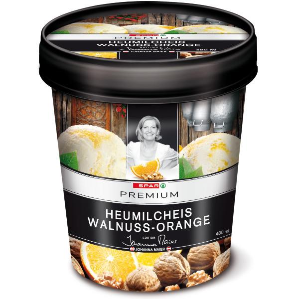 Spar Premium Heumilcheis Walnuss Orange Johanna Maier