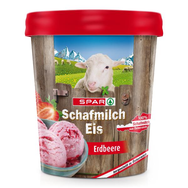 Spar Schafmilch Eis Erdbeere