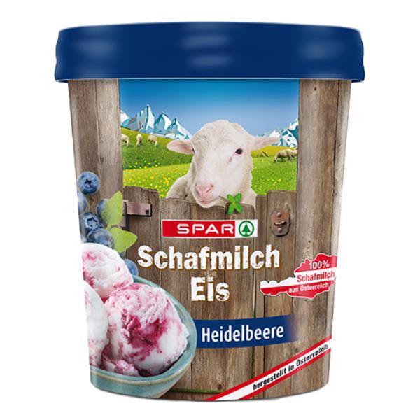 Spar Schafmilch Eis Heidelbeere