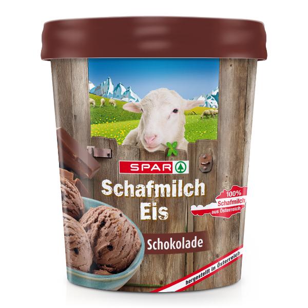 Spar Schafmilch Eis Schokolade